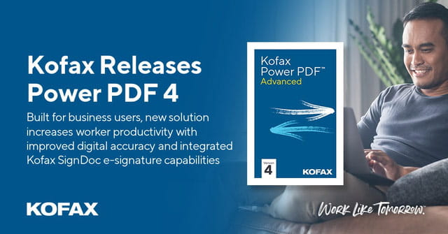 Kofax Releases Power PDF 4