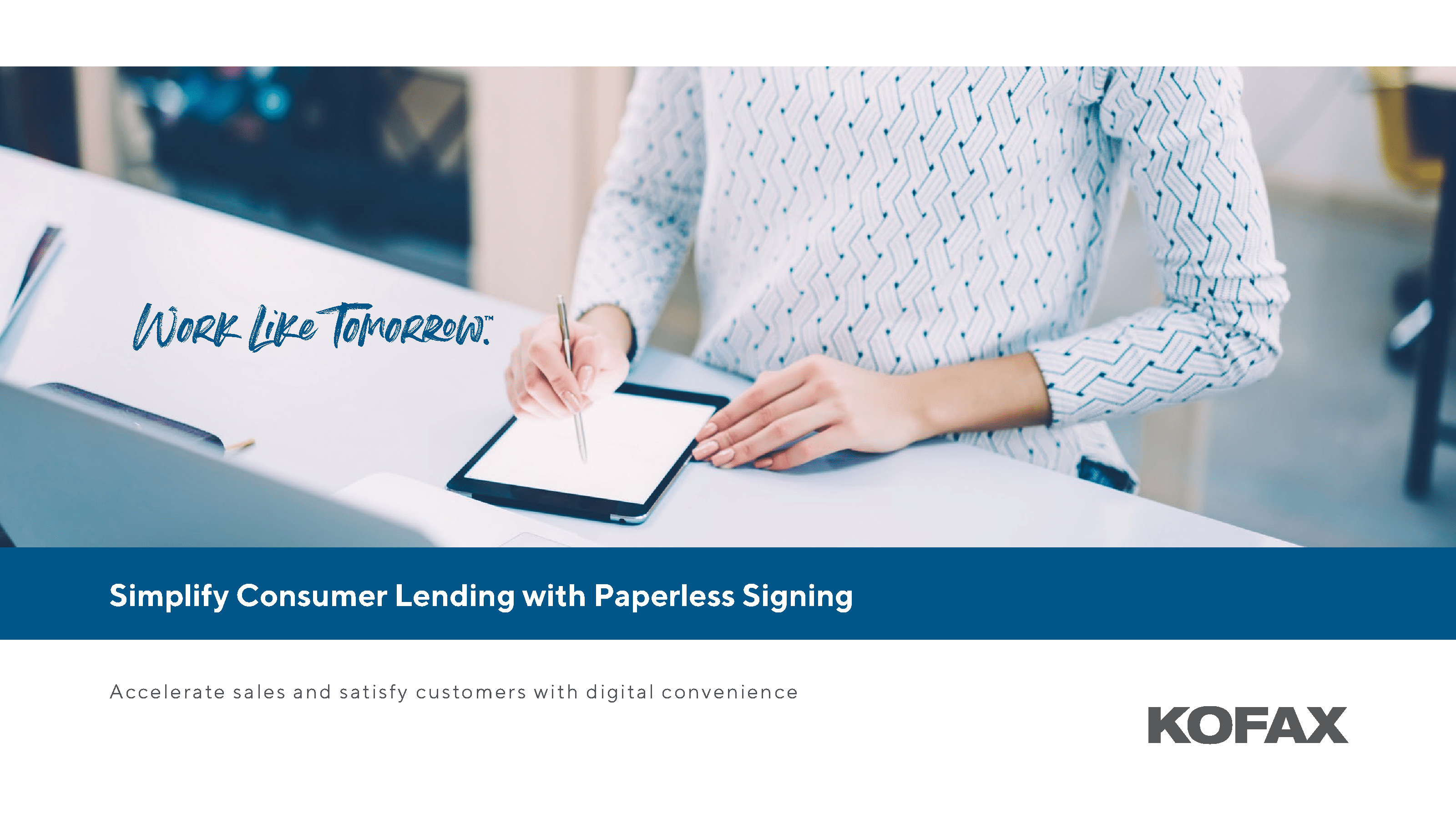 Simplifying Consumer Lending with Paperless Signing