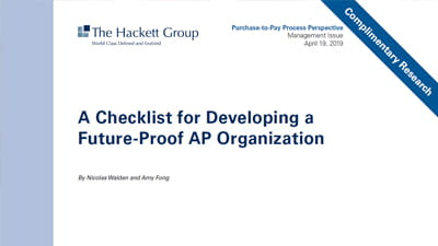 A Checklist for Developing a Future-Proof AP Organization