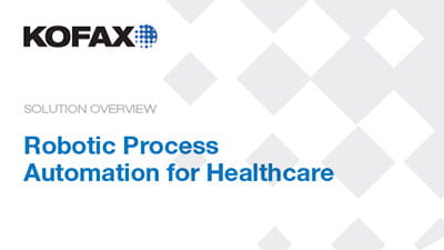 Robotic Process Automation for Healthcare