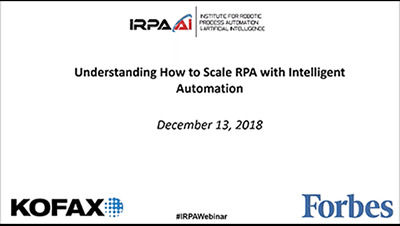 Understanding How to Scale RPA with Intelligent Automation