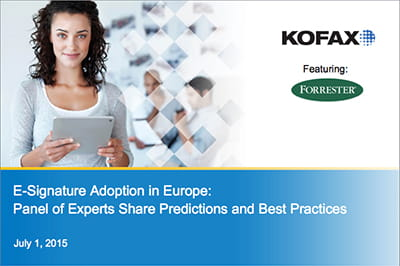 Global FY16 OS WB E Signature Adoption in Europe Predictions and Best Practices