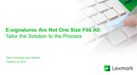 esignatures are not one size fits all tailor the solution to the process Created Equal