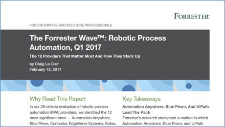 The Forrester Wave™: Robotic Process Automation, Q1 2017