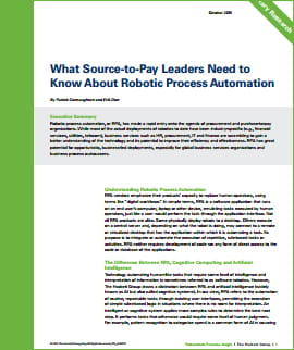 What Source-to-Pay Leaders Need to Know About Robotic Process Automation