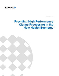 Providing High Performance Claims Processing in the New Health Economy
