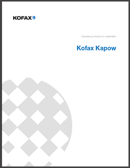 Kofax Kapow Technical Product Overview