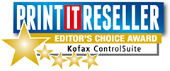 Print IT Reseller Editor's Choice Award Kofax ControlSuite