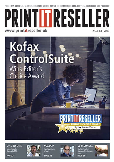Kofax ControlSuite Wins Print.IT Reseller Magazine Editor's Choice Award